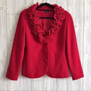 Vex Size 40 Wool Red Blazer Jac…